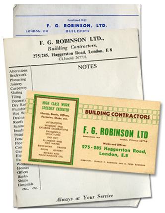 F. G. Robinson stationary